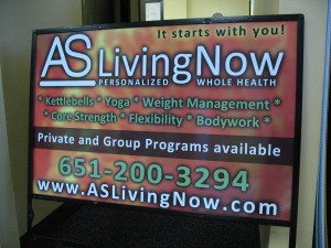 Signsational Graphics Yard Sign for AS Livng Now